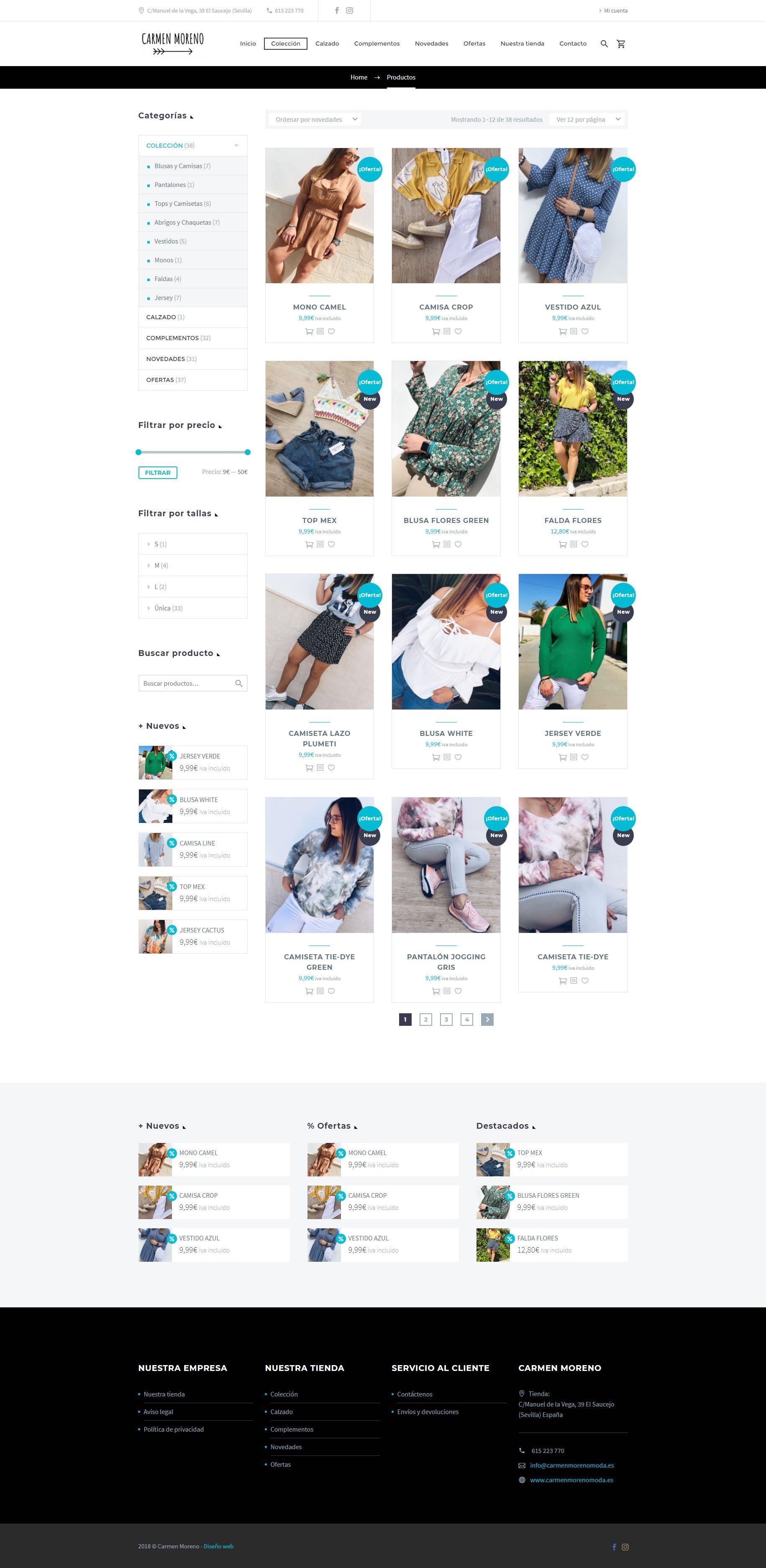 Diseñador web - Moda Carmen Moreno