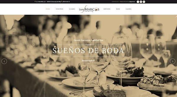 Web Corporativa Catering San Marcos