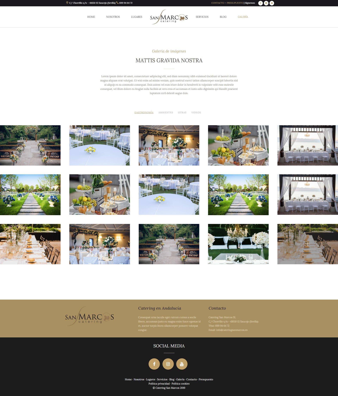 Diseñador web - Catering San Marcos