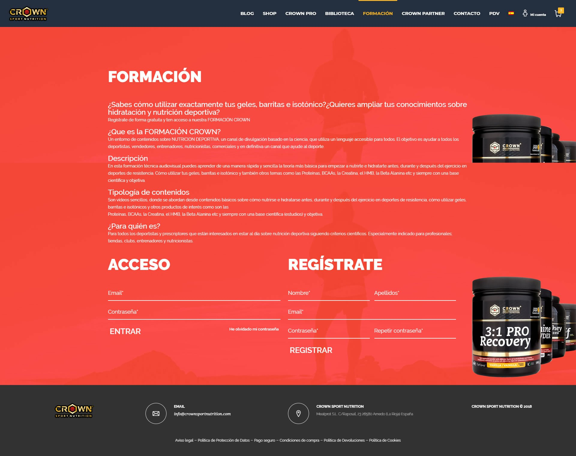 Diseñador web - CrownSportNutrition