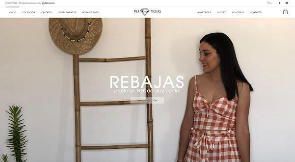 Tienda Web Online Mia Modas